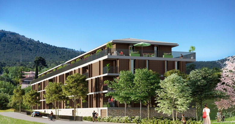 Achat / Vente programme immobilier neuf La Penne-sur-Huveaune entre village et pinède (13821) - Réf. 1018