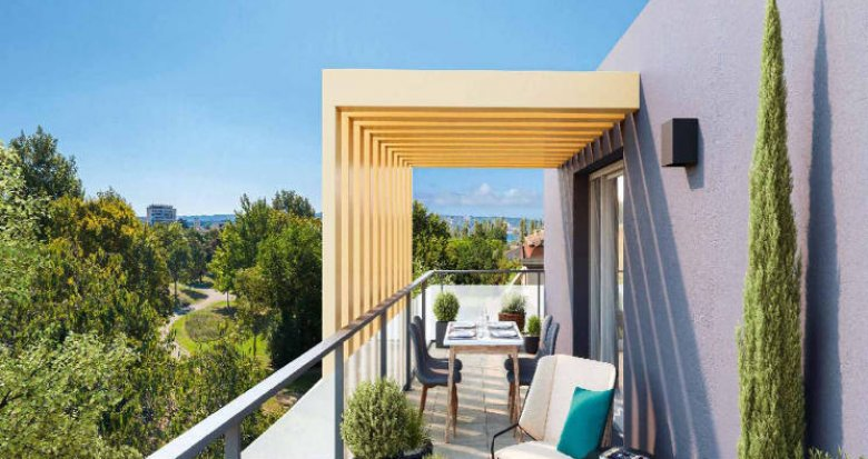 Achat / Vente programme immobilier neuf Marignane, petite résidence en lisière du parc Ferrage (13700) - Réf. 5324