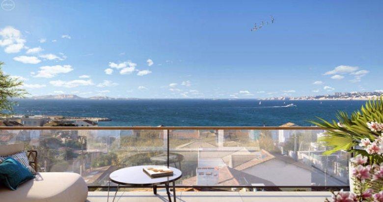 Achat / Vente programme immobilier neuf Marseille 8 à 100 mètres de la plage (13008) - Réf. 4317